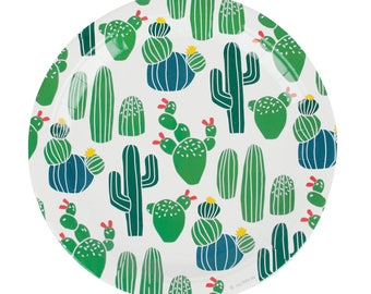 Plates | Cactus Paper Plates | Cactus Party Supplies | Cactus Party Decor | Pack of 8 | Southwest | Fiesta | Paper | The Party Darling