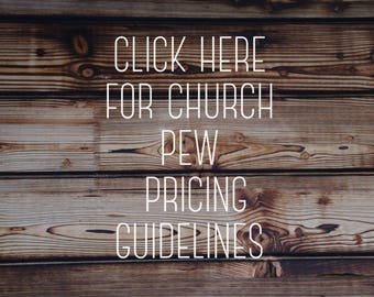 Pricing Options for Church Pews