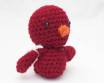 Amigurumi Stuffed Red Bird
