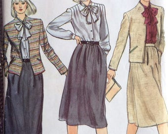 Misses jacket, skirt and blouse Vogue sewing pattern