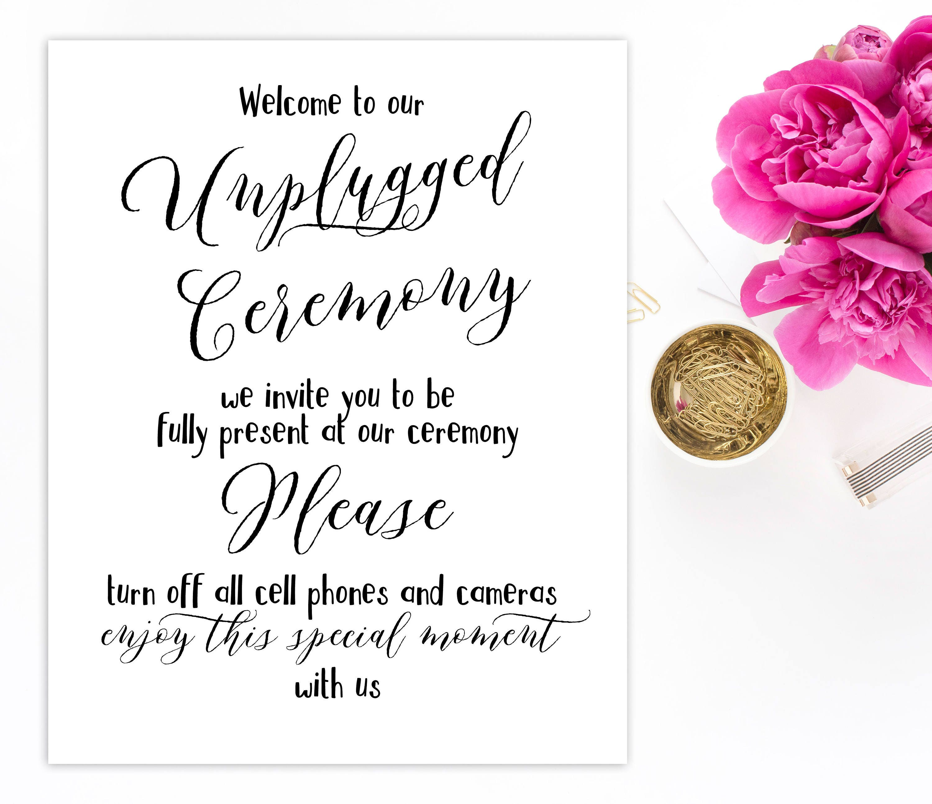 unplugged ceremony sign no phones sign printable unplugged wedding sign no cameras sign no cell phone