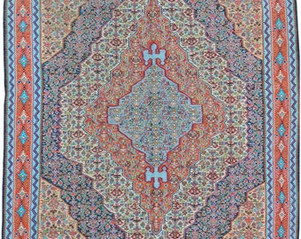 Antique Silk Senneh Kilim 2.54m x 1.60m