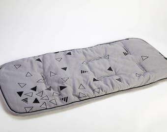 Stroller Liner, Stroller Pad, Pram Liner, Baby Stroller Cover, Stroller Accessories, Neutral Baby Gift,triangles