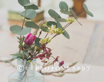 Styled stock photos, set of five, floral images.