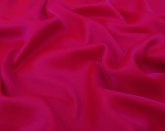 """Solid Art Silk Fabric, Magenta Fabric, Dress Material, Sewing Crafts Accessories, 44"""" Inch Dress Fabric By The Yard PZBP2A"""