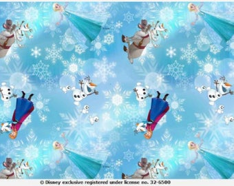 Frozen - Digital Printed Cotton Lycra Jersey Knit Fabric