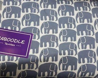 Blue Elephants Cotton Lycra Jersey Knit Fabric
