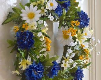 Wild Flower Wreath Etsy