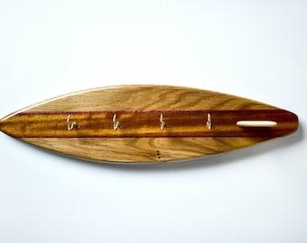 Surfboard Key Hanger - 'Purple Ribbons'