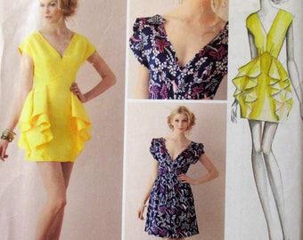 Simplicity, S1877, misses dress, short dress, length and skirt variations, cap sleeve dress, sz: 4, 6, 8 10, 12