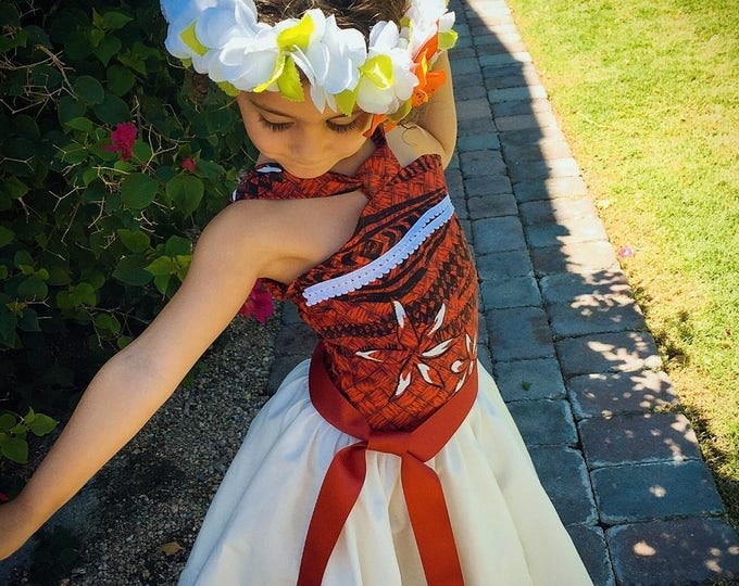 Moana Dress Custom Made without tulle