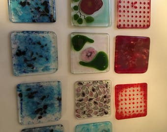 Mix and Match glass coasters