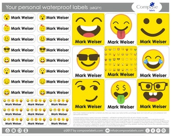 Emoji - Your personal waterproof labels (68 Qty) Free Shipping
