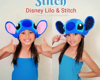 Stitch hat, Lilo and Stitch crochet hat, disney crochet character hat, disney stitch hat,stitch costume, stitch baby photo props,crochet hat