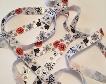 FOE/Ghost FOE/Halloween Fold Over Elastic/Haunted House Fold Over Elastic/Halloween FOE/Baby Headband Elastic/Girl's Headband Elastic