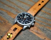 Ruler Leather Stud Watch Strap
