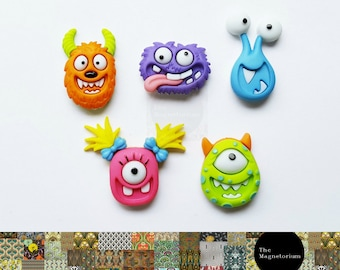 Monster Fridge Magnet Set