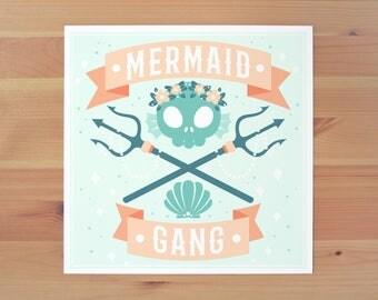 Mermaid Gang Print