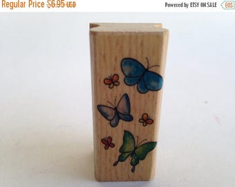 Bunches of Butterflies Flying Upward - Border Vintage Rubber Stamp - Card Making - Crafts ~ 161222