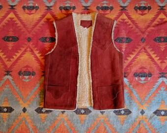 70's Vintage Suede Vest