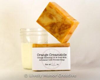 Orange Creamsicle - Orange Essential Oil & Raw Goat Milk Soap