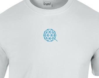 CryptoT QTUM Logo Tshirt