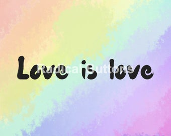 "Love is love 5.5""x4"" Postcard - Digital Download"