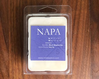 Napa || Scented Soy Wax Melts || California || Black Raspberries || Vanilla