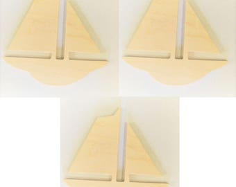Sail Boat Cut Out, Wooden Shapes, Wooden Boat, Kids Room, Nursery, Baby Decor, Wall Art, Wood Sail Boat, Wall Hanging
