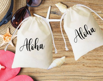 Aloha favor, Welcome Favor, Aloha favor bag, Hawaii favor,destination wedding favors, wedding welcome bag, tropical party, welcome to hawaii