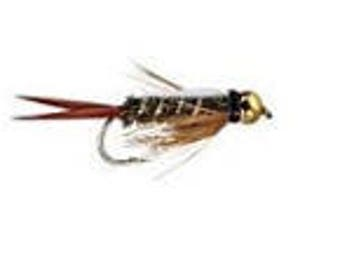 Prince Bead Head Nymph Fly Fishing Trout Flies - One Dozen Wet Flies - 3 Size Assortment 12,14,16 (4 of Each Size)