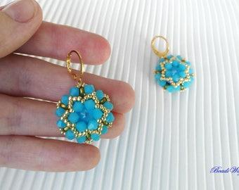 """Earrings """"Peace"""" Swarovski/Earrings/Earrings of beads/""""peace"""" Swarovski/Orecchini/Earrings Beaded Earrings"""