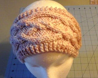 Cabled headband,  Knit Headband,  Earwarmer, Handknit Headband