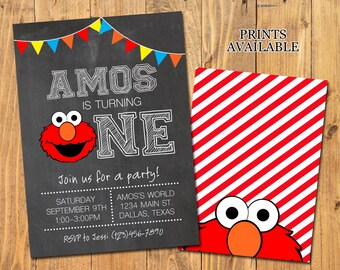 ELMO BIRTHDAY INVITATION - Elmo Party - Digital/Printable Invite - one or two!