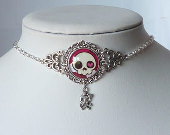 princess punk necklace skulls cameo gothic collier gothique tête de mort tattoo tatouage rockabilly rock n'roll and roll