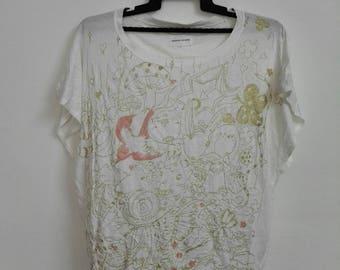 Tsumori Chisato Overprint Tshirt Size Medium Girl