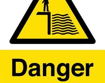 Danger Deep Water Metal Sign