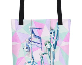 Psychedlic Pole Sisters Pole Dance Tote Bag
