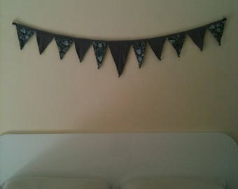 Cheerful bunting wall hanging
