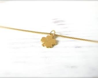 Four-leaf clover   Necklace   Gold