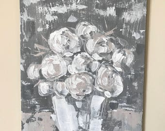 Neutral Floral Painting
