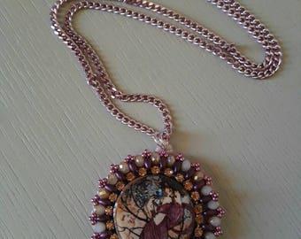 Collana lapillo di lava rosa antico