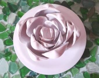 Coquille rose peint en blanc