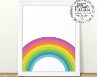 Printable Rainbow Art, Nursery Room Wall Art, Minimalist Art, Nursery Print, Babys Room, Shower Gift, Rainbow wall art, nursery rainbow