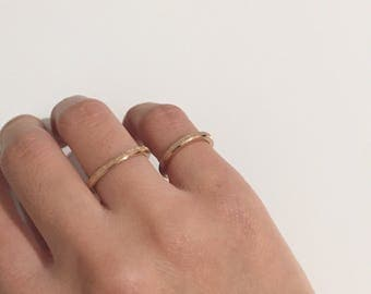 Simple glittery dainty ring rose gold