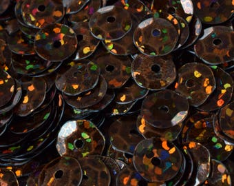 3/6mm Light Bronze Brown Cup Glossy Iridescent Sequins Sheen Round Sequins/Loose Paillettes,Wholesale Sequins,Shimmering Sequin Apparel