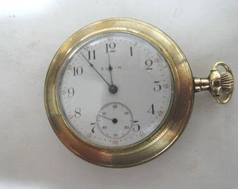 1894 Elgin Pocket Watch 15 Jewel in Gold Filled Case  47mm Running