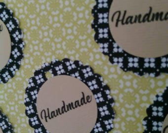 20 HANDMADE handmade label card hang tags/fait main