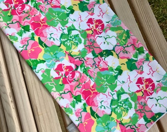 Lilly Pulitzer inspired print Fishing Buff with UV protection