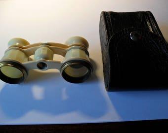 Vintage Soviet Theatre Binoculars, Theatre accessory, Opera Glasses, Compact Bin